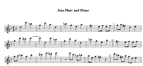 Notation Software - Special Music Interests - Printing Flute