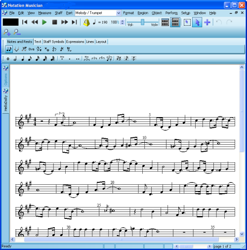 Notation Software - Special Music Interests - Printing